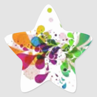 Splash Star Sticker