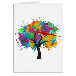 splash to summer Time tree Greeting Card