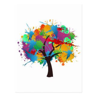 splash to summer Time tree Postcard