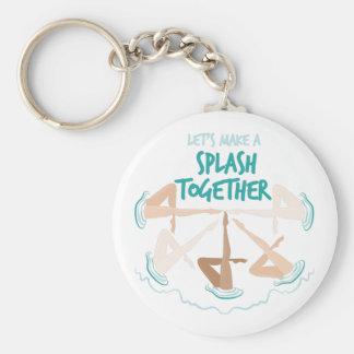 Splash Together Basic Round Button Keychain