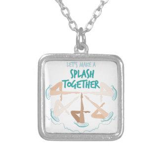 Splash Together Square Pendant Necklace