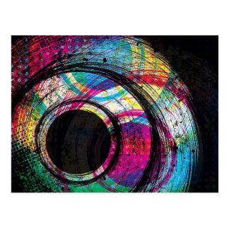 Splash - Wild Dark Abstract Art Postcard