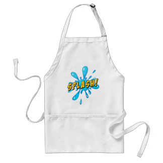 Splash with water adult apron