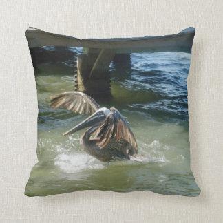 Splashdown L Throw Pillows