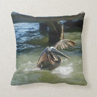 Splashdown R Throw Pillows