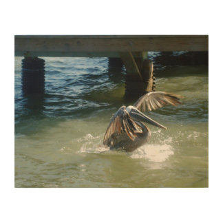 Splashdown Impresión En Madera