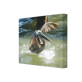 Splashdown Wrapped Canvas Canvas Print