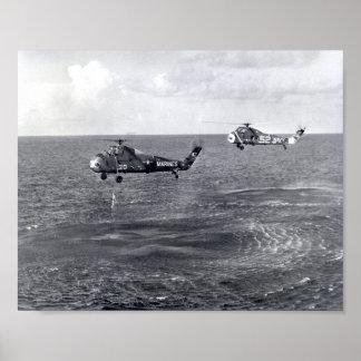 Splashdown y recuperación de Liberty Bell 7 Poster