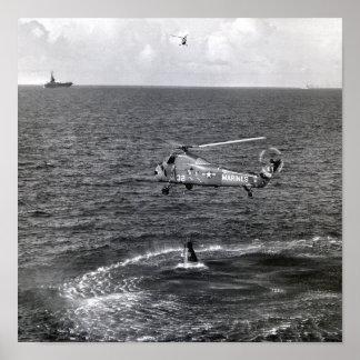 Splashdown y recuperación de Liberty Bell 7 Impresiones