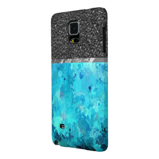 splashes of color, aqua galaxy note 4 case
