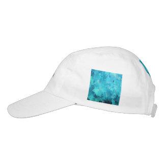 splashes of color, aqua hat