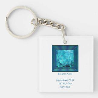 splashes of color, aqua keychain