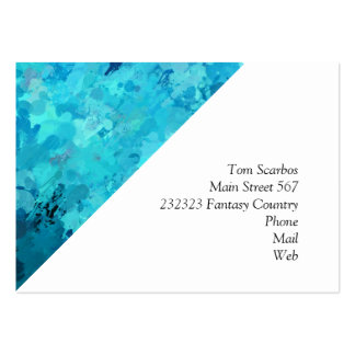 splashes of color, aqua large business card