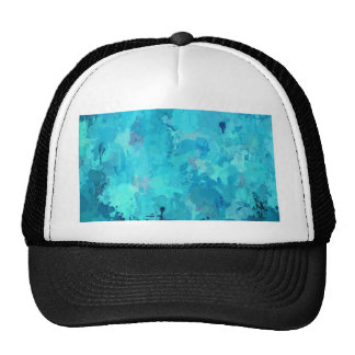 splashes of color, aqua trucker hat