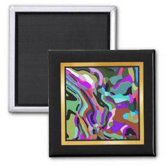 Splashes of color Artwork or Photo Magnet