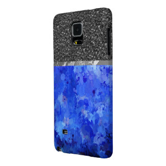 splashes of color, blue galaxy note 4 case