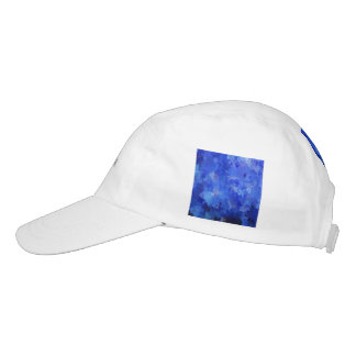 splashes of color, blue headsweats hat