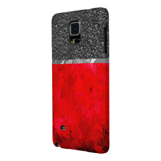 splashes of color, deep red galaxy note 4 case