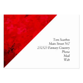 splashes of color, deep red large business card