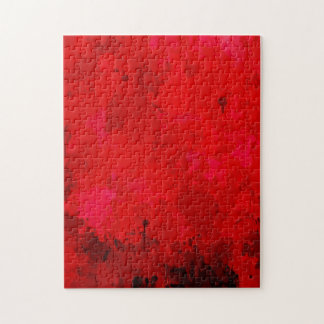 splashes of color, deep red puzzle