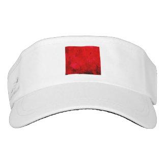 splashes of color, deep red visor