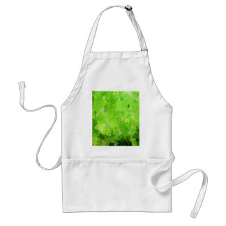 splashes of color, green adult apron