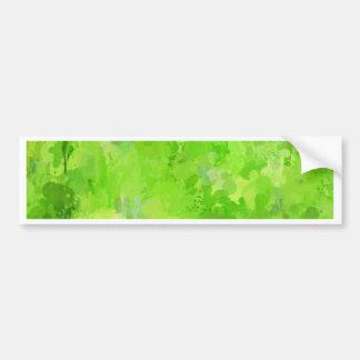 splashes of color, green bumper sticker