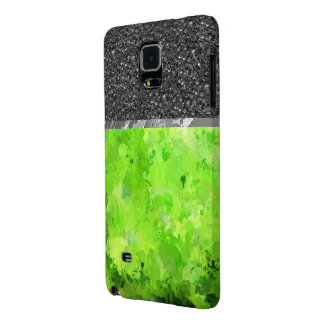 splashes of color, green galaxy note 4 case