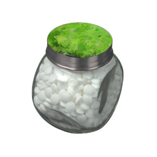 splashes of color, green glass candy jar