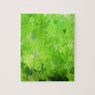splashes of color, green puzzle