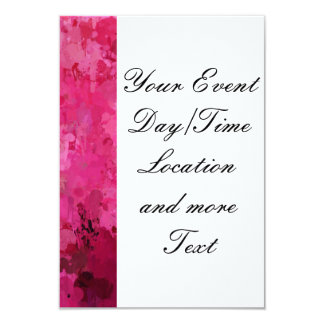splashes of color, hot pink card