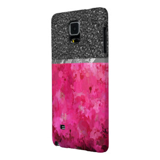 splashes of color, hot pink galaxy note 4 case