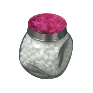 splashes of color, hot pink jelly belly candy jars