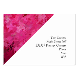 splashes of color, hot pink large business card