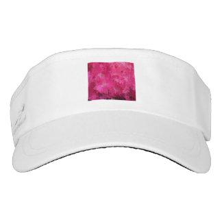 splashes of color, hot pink visor