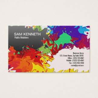 Splashes of Color Madness PR Business Card