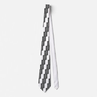 Splashes of fountain water (black and white) neck tie