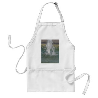 Splashes of fountain water in a sunny day adult apron