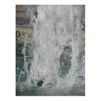 Splashes of fountain water in a sunny day postcard