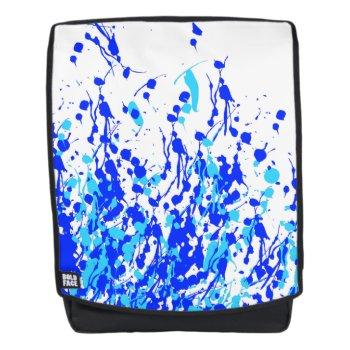 Splashes of Paint Blue Backpack