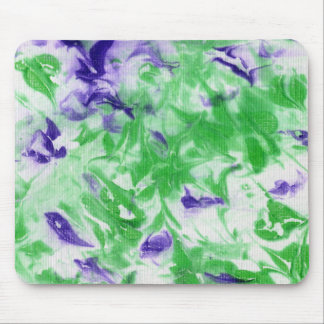 Splashes of Purple and Green -- Abstract Mousepad