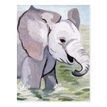 Splashing About Baby Elephant (K.Turnbull Art) Postcard