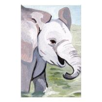 Splashing About Baby Elephant Stationery