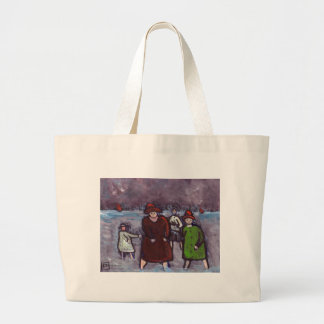 SPLASHING ABOUT IN THE SEA LARGE TOTE BAG