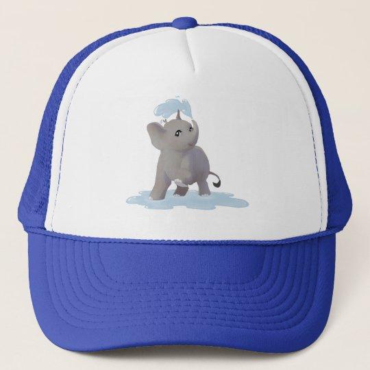 Splashing around trucker hat