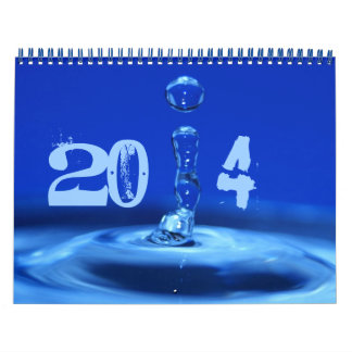 splashing blue calendar