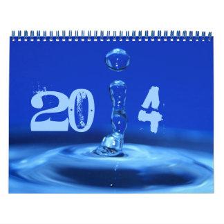 splashing blue calendar