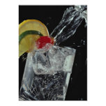 splashing drink into glass custom invites
