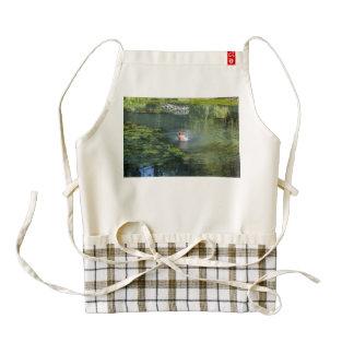 Splashing duck in a pond zazzle HEART apron
