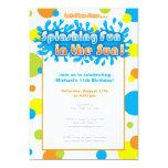 Splashing Fun in the Sun 5x7 Paper Invitation Card